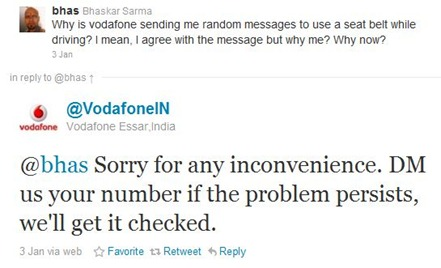 Vodafone and Twitter