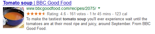 recipes markup google