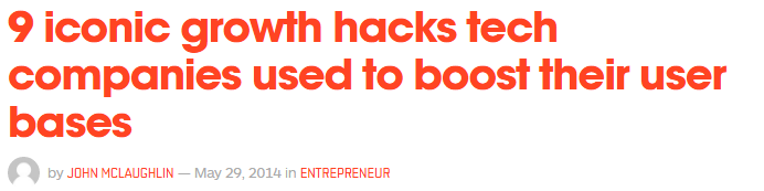 9 hacks, and that too from iconic companies. Seems doable.